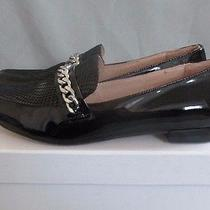 Authentic Madison Harding Black Patent Leather Loafers Sz 6 1/2 New Nib Photo