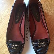 Authentic Marc Jacobs Leather Shoes Flats Size 37. Gorgeous Black. Vogue Model. Photo