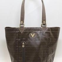 Authentic  Mario Valentino  Hand  Bag Tote Bag  Leather Pvc   Italy 10527c Photo