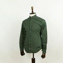 Authentic Men's Burberry Brit Long Sleeve Check Green Yellow Blue Shirt Casual M Photo