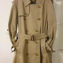 Authentic Mens Burberry Nova Honey Beige Long Trench Mac Coat 46 Short Gabardine Photo