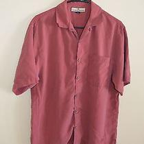 Authentic Mens Tommy Bahama Shirt Small Solid Blush Color. 100% Silk Photo