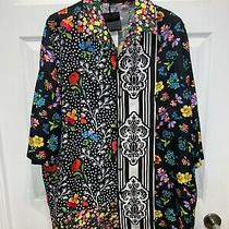 Authentic Mens Versace Silk Multi Floral Shirt Size 44 1500  Approx. L/xl Photo