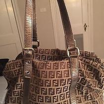 Authentic Metallic Fendi Purse Photo