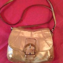 Authentic Metallic Gold Coach Cross Body Bag Photo