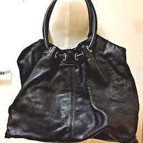 Authentic Michael Kors Black Astor X Large Leather Ring Tote B-0809 Photo
