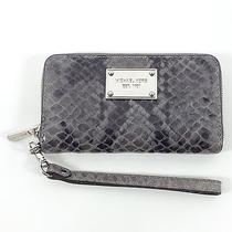Authentic Michael Kors Grey Snake Wrist Wallet Iphone 6 Holder Photo