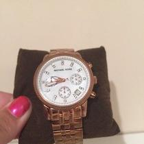 Authentic Michael Kors Rose Gold Watch Photo