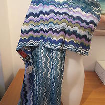 Authentic Missoni Knit  X-Large  Scarf  Made in Italy     Zig Zag New Photo