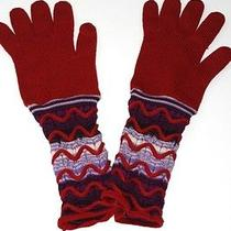 Authentic Missoni Multicolor Knit Wool Gloves  Photo
