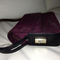 Authentic Missoni Oxblood Signature Handbag - Canvas Flap Leather Strap Euc Photo
