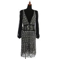 Authentic Missoni See-Through One Piece Dress Black Rayon Italy Vintage Bt03624 Photo