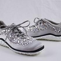 Authentic Miu Miu Astro Swarovski Crystal Satin Women's Running Shoes Us 9 1490 Photo