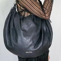 Authentic Miu Miu Black Leather Weekend Bag Photo