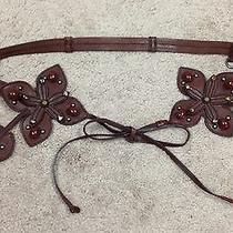 Authentic Miu Miu Embellished Brown Leather Belt Nwot Photo