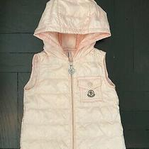 Authentic Moncler 225 Girls Pink Vest - 12 Months  Photo