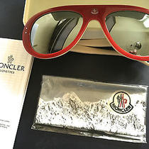Authentic Moncler Sunglasses Mirror in Red  Photo
