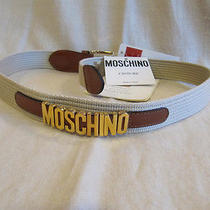 Authentic Moschino Gold Letter Belt Redwall   S  Photo
