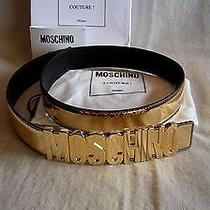 Authentic Moschino Limited Edition Gold Leather Belt   42    M / L Photo