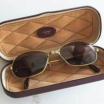 Authentic Must De Cartier Glasses With Box Stamped and Numbered Glasses Photo