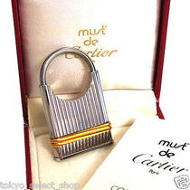 Authentic Must De Cartier Porte Cles Key Ring Silver/goldtone in Box Swiss Made Photo