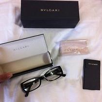 Authentic New Bvlgari Eyeglasses Bv4024 Color 501 Black Size 50-16-135 Case Box Photo