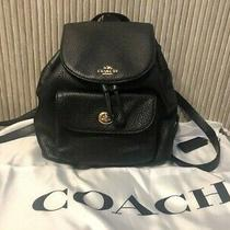 Authentic New Coach Backpack Bag Mini Billie Rucksack Black Leather F37621  Photo