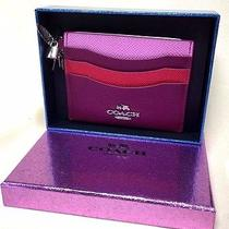 Authentic New Coach Credit Card Holder Multi-Colored Nwt & Box Photo