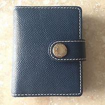 Authentic New Dooney & Bourke Navy Wallet Credit Card Case Perfect Gift Photo