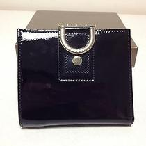 Authentic New Gucci Black Patent Leather Abbey Flap French Wallet W D Ring Photo