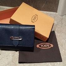 Authentic New in Box Nib Tod's Women's Wallet Photo