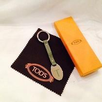 Authentic New in Box Tods Leather & Silver Keyring Photo