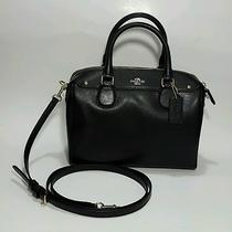 Authentic New Item Coach Crossgrain Black Leather Mini Bennet  F36624 Nwt R295  Photo