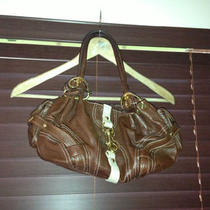 Authentic New Juicy Couture Brown Leather Hobo Handbag  Photo