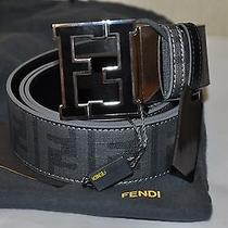 Authentic New Men's Fendi Reversible Gray/black  Belt Photo
