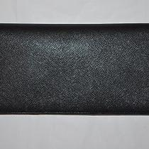 Authentic New Men's Prada Black Saffiano Leather Document Holder & Passport Case Photo