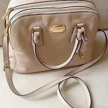 Authentic New Michael Kors Alexis Leather Lg Satchel in Blush  Photo