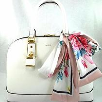 Authentic New Nwt Aldo White Satchel Crossbody Bag & Scarf Photo