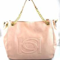 Authentic New Nwt Bebe 108 Lara Pink Blush Chain Tote Bag Photo