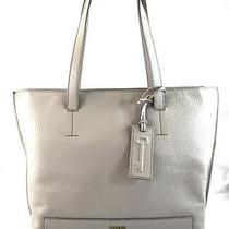 Authentic New Nwt Fossil 248 Leather Madison Grey Top Zip Tote Bag Photo