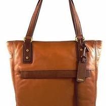 Authentic New Nwt Fossil Leather 248 Molly Brown Tote Bag Photo