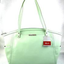 Authentic New Nwt Fossil Relic Caraway Green Tote Bag Photo