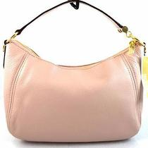 Authentic New Nwt Michael Kors 248 Leather Fulton Pink Top Zip Shoulder Bag Photo