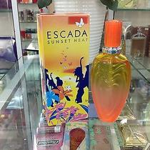 Authentic New Sunset Heat by Escada 3.3oz Edt Spray for Women 100ml Rare Perfume Photo