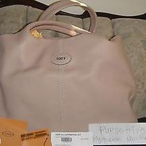 Authentic New Tod's Blush Pink Large Smooth Leather 24h  Shopping Media Tote  Photo