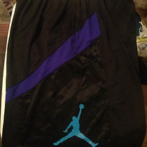 Authentic Nike Jordan Basketball Shorts Black Grape 5 Aqua 8 Xxl Rare Dri-Fit 2x Photo