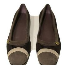 Authentic Nwb Bally Thilda Suede Choco Leather Ballet Flats Shoe 8.5us Brown Photo