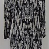 Authentic Nwt Express Black & White Dress Size L         (A6241) Photo