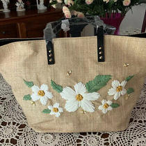 Authentic Original Nwt Betsey Johnson Daisy'd and Confused Tote Bag Photo