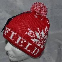 Authentic Penfield  Dumont  Beanie Winter Cap Hat Red White Brand New Photo